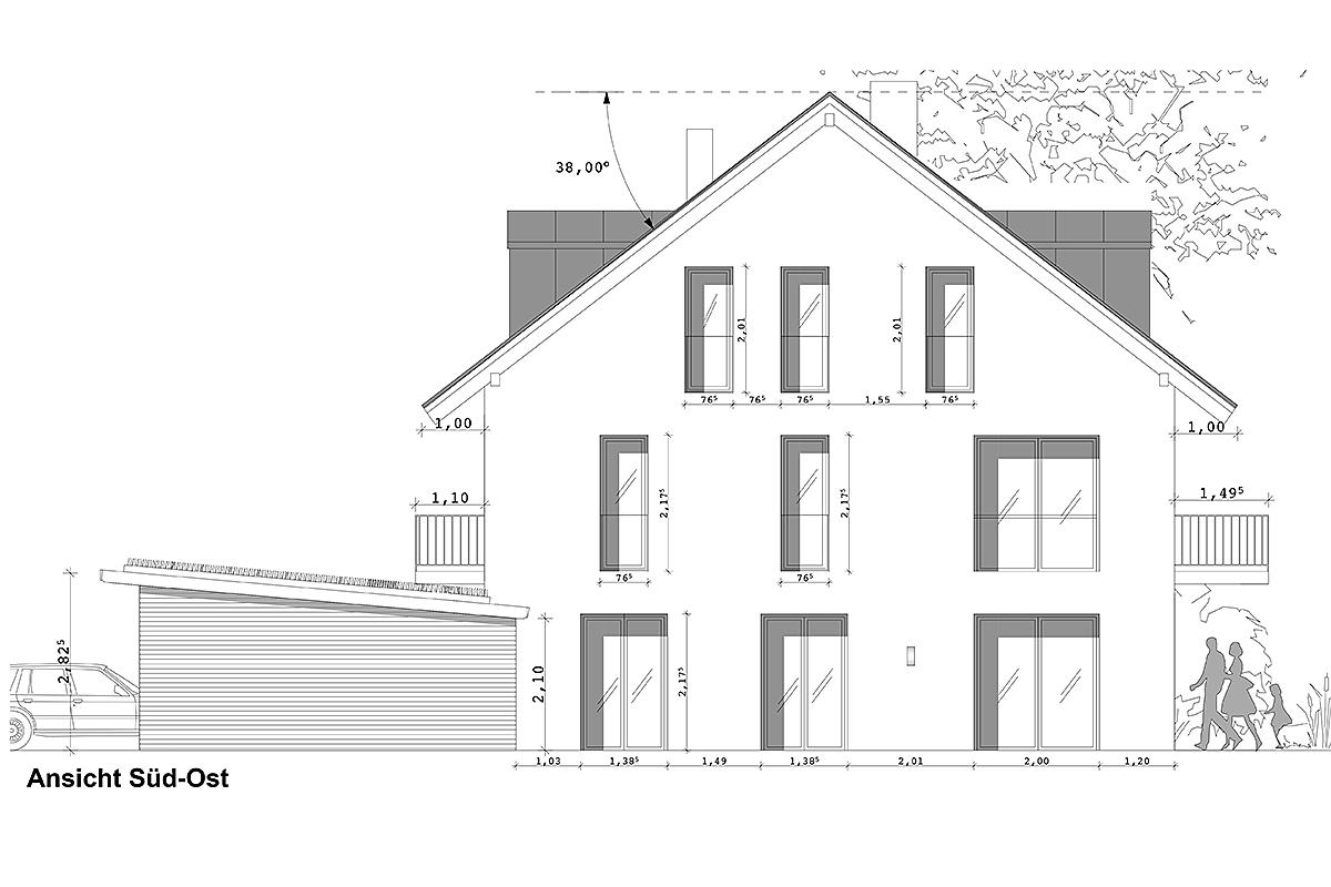 Neubau Doppelhaushälfte in Alling - Plan