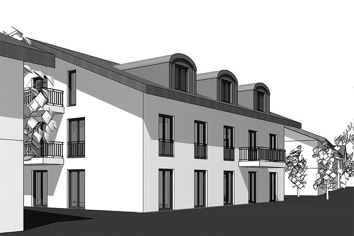 Neubau Mehrfamilienhaus, Hufschmidstr. Langwied