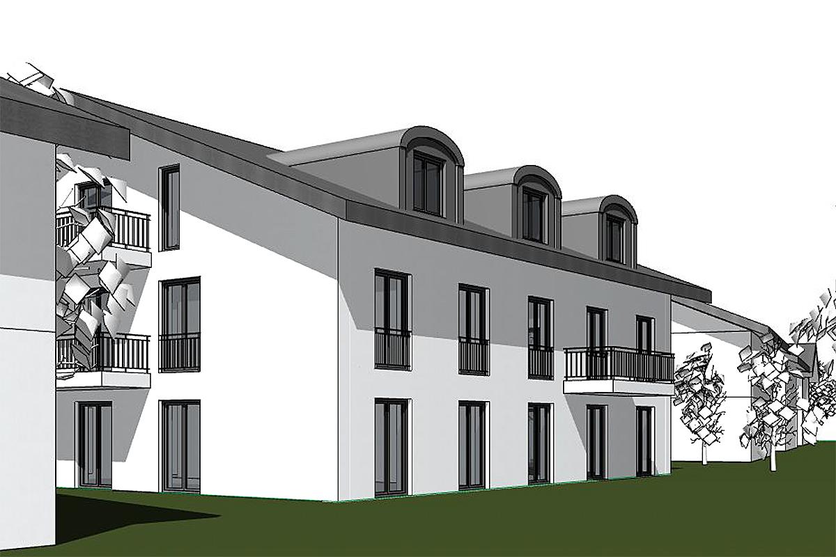 Neubau Mehrfamilienhaus in Langwied, Hufschmiedstr.