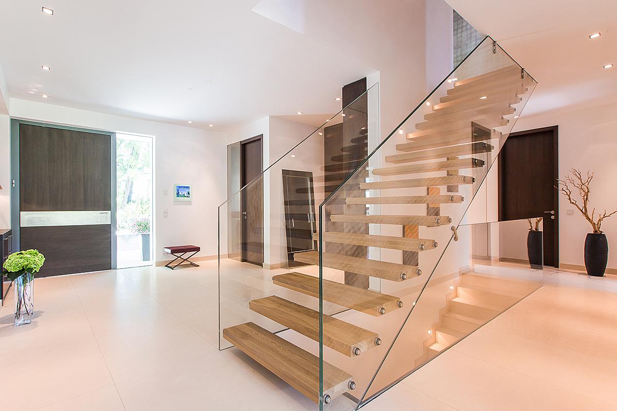 Neubau Villa in Wien, Prehausergasse - innen Eingangsbereich