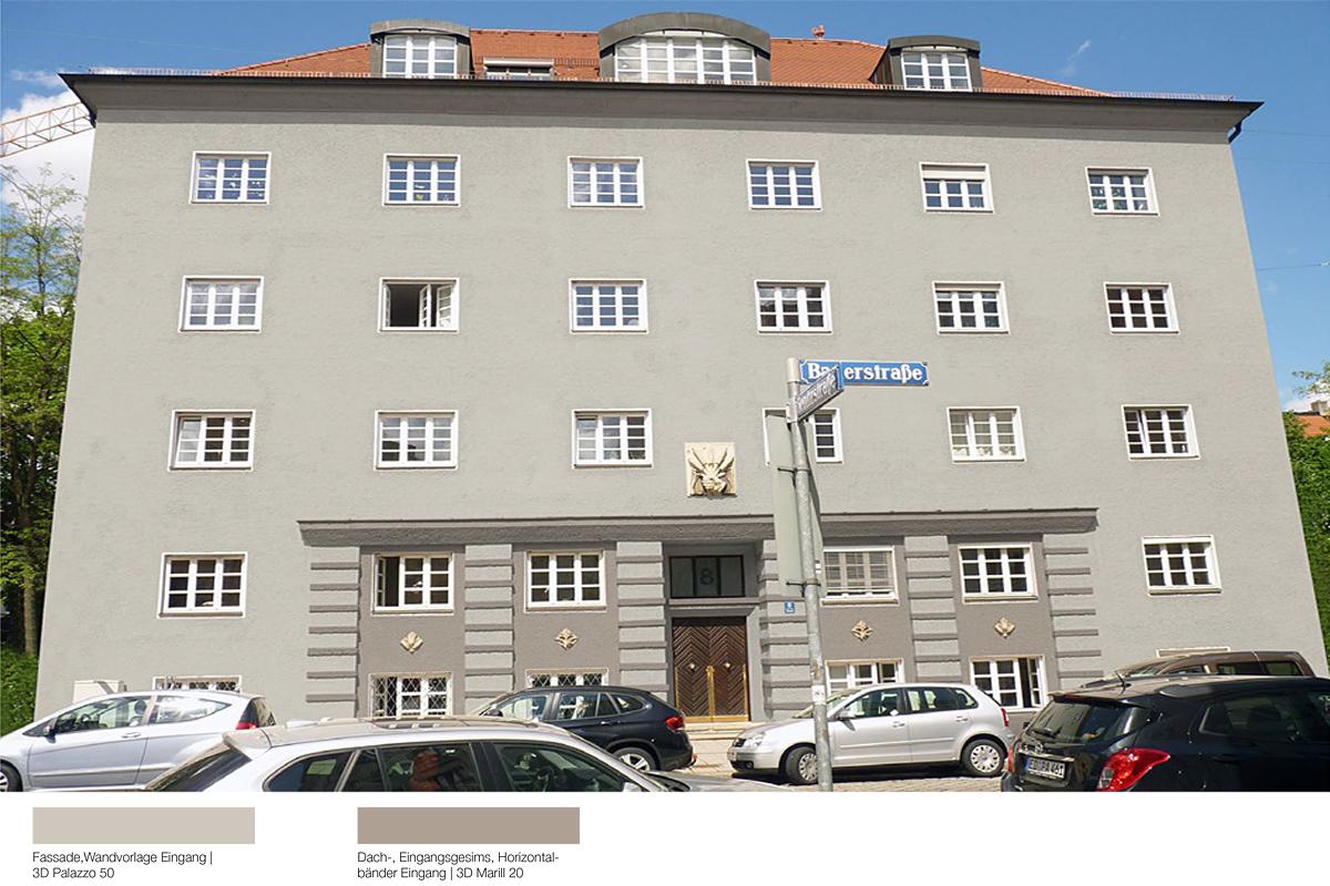 Fassadensanierung Mietshaus Bauerstraße München - Kolorit 2