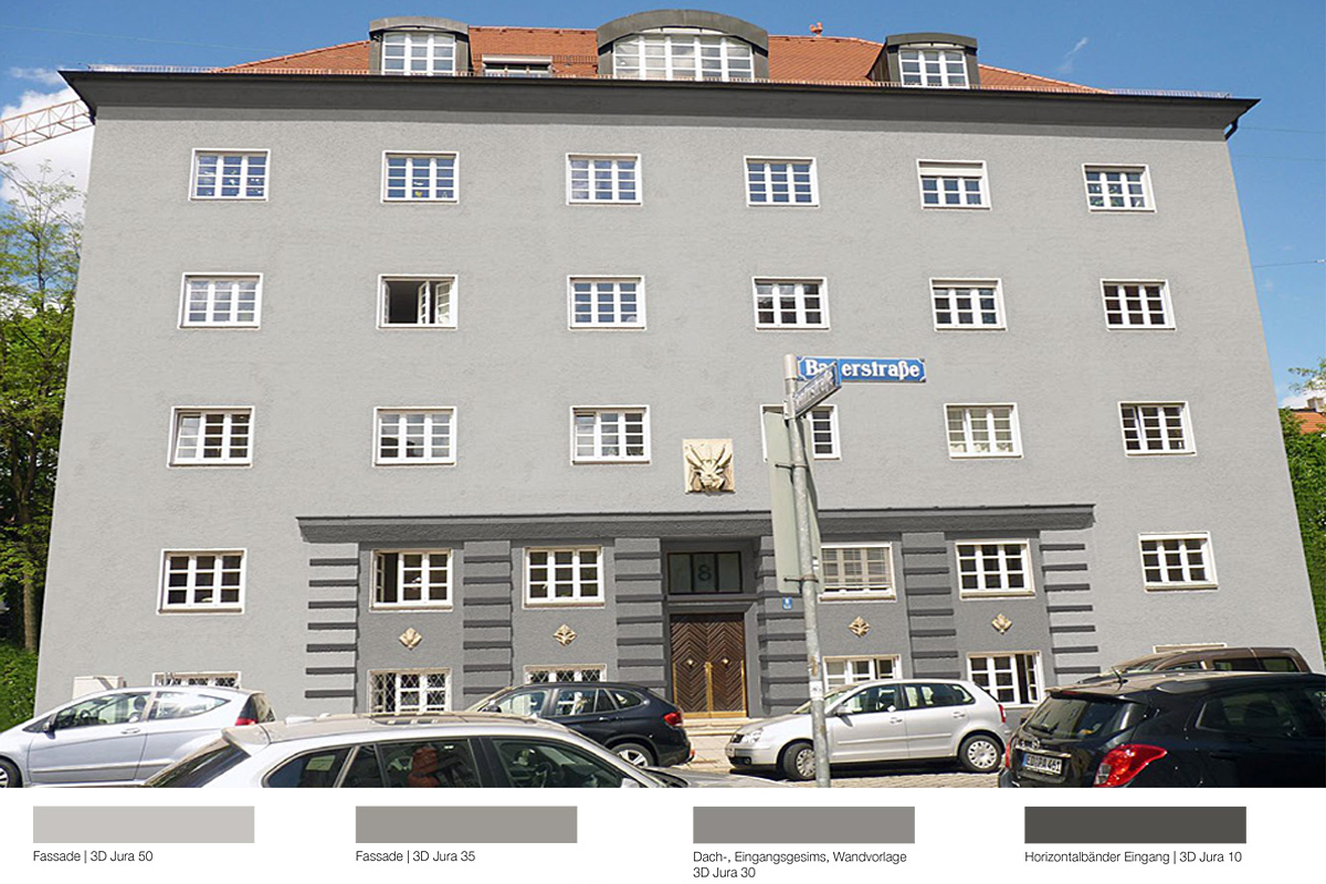 Fassadensanierung Mietshaus Bauerstraße München - Kolorit 3