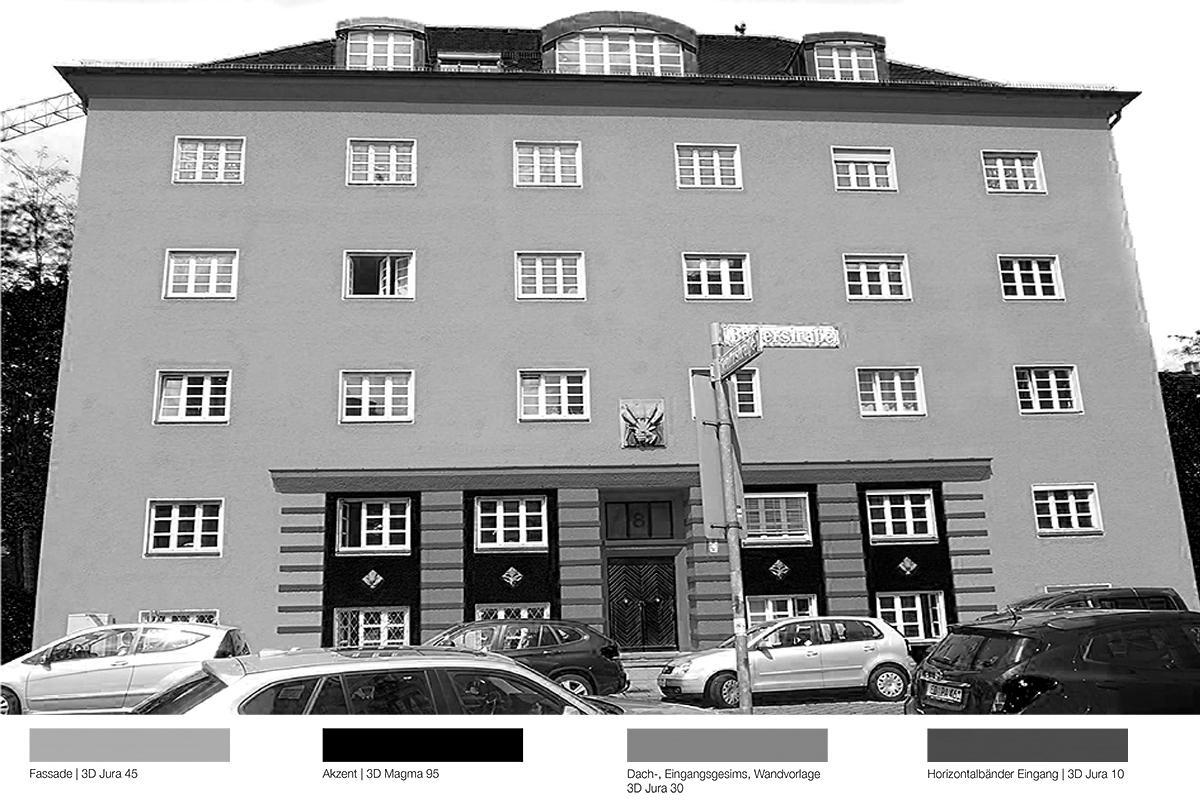 Fassadensanierung Mietshaus Bauerstraße München