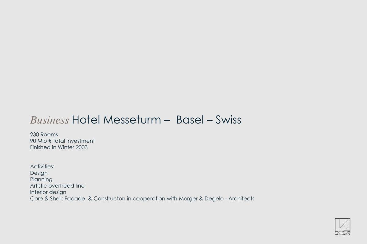 Hotel im Messeturm Basel - Planung und Umsetzung