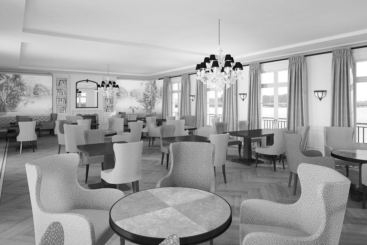 Entwurf für ein neues Restauranthotel bei Salzburg