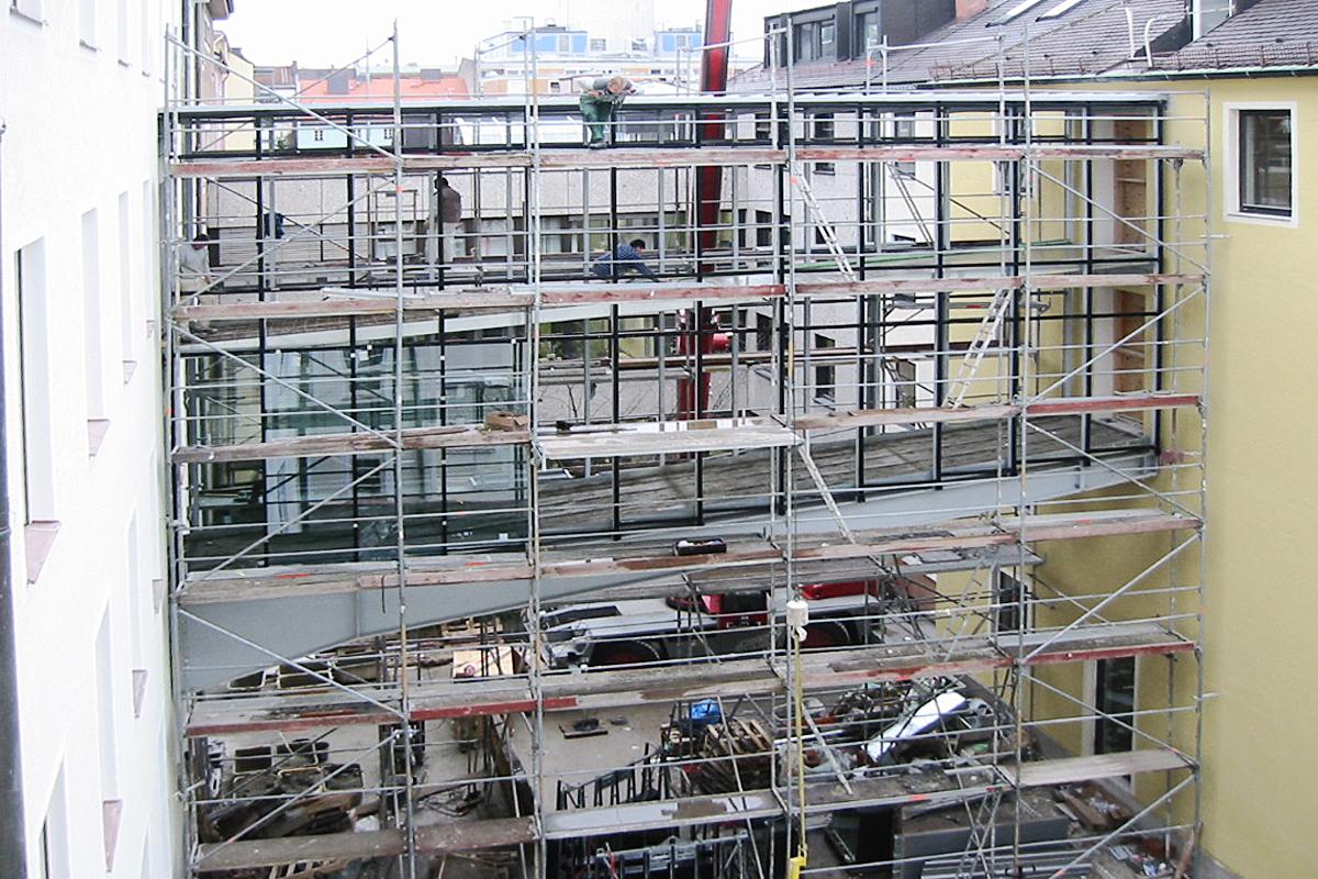 Umbau der DZ-Bank, Türkenstraße, München