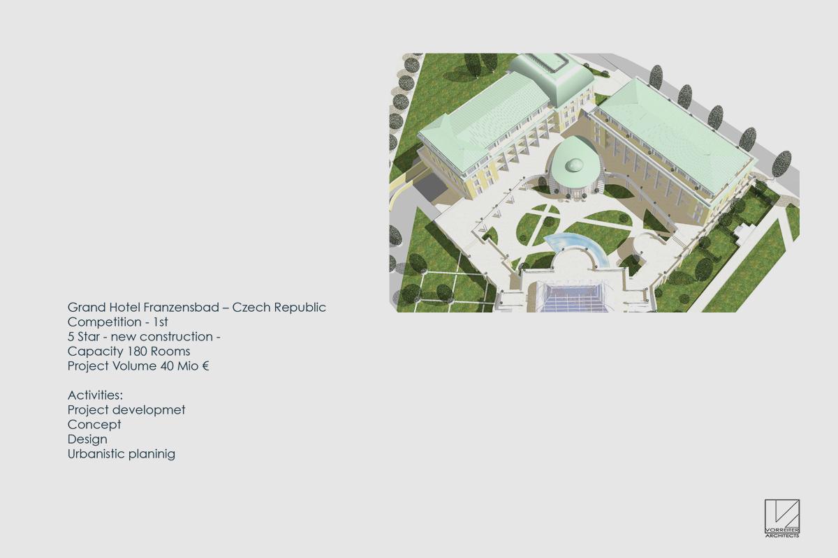 Wettbewerb 5-Sterne Hotel in Franzensbad Tschechien