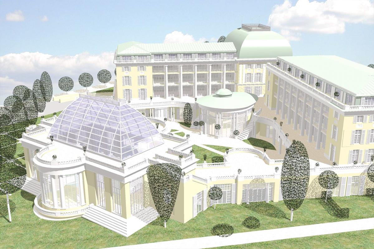 Wettbewerb Hotel in Franzensbad - Orangerie