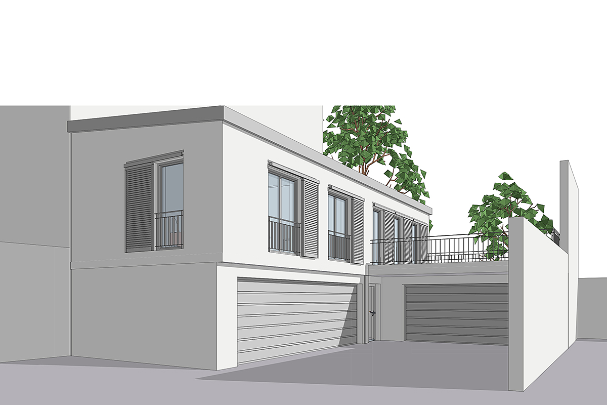 Wohnung Rückgebäude Dachauerstr - Perspektive