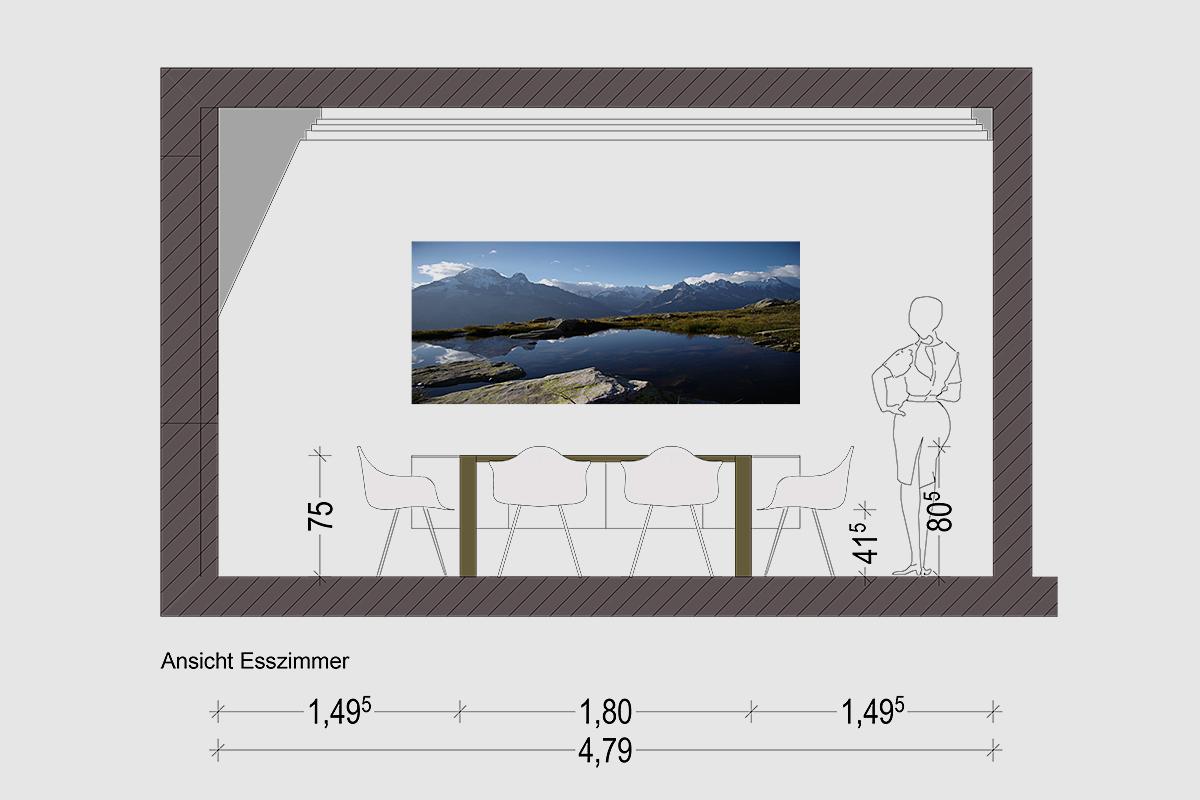 Inneneinrichtung Wohnung Nymphenburg - Planung Ansicht Essen