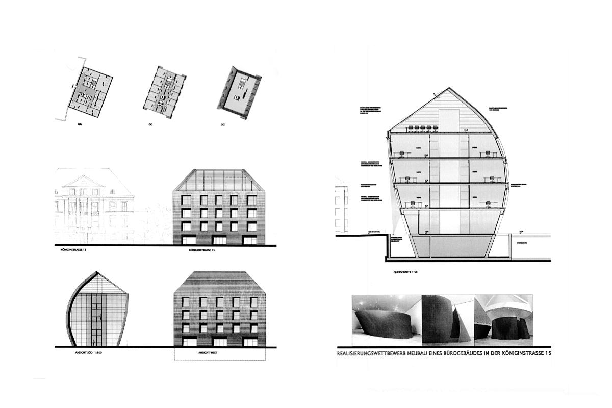 Bürogebäude Königinstraße - Wettbewerb